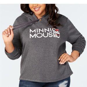 Disney's Minnie Mouse plus size hooded sweatshirt!